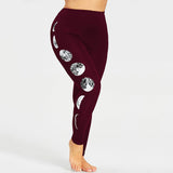 Women Plus Size Moon Leggings