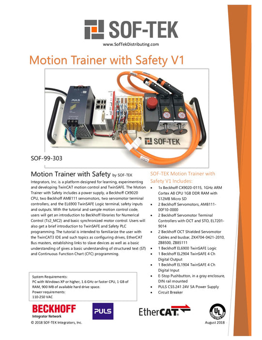 SOF-99-303 Motion Trainer Safety
