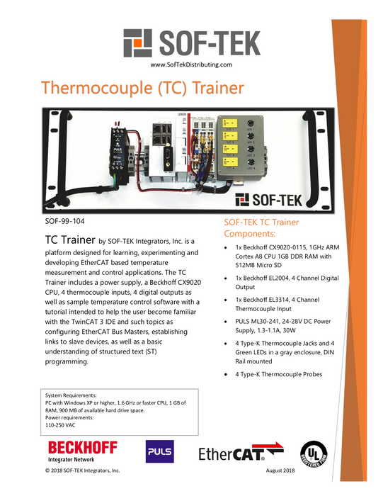 SOF-99-104 Thermocouple (TC) Trainer