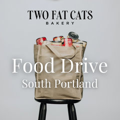Two Fat Cats Bakery South Portland Food Drive