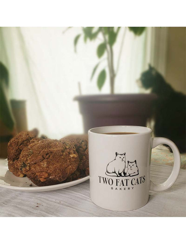 Two Fat Cats Bakery Logo Mug