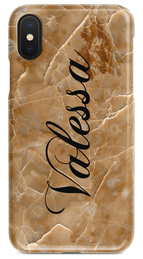 Caramel Marble – Vertical Name