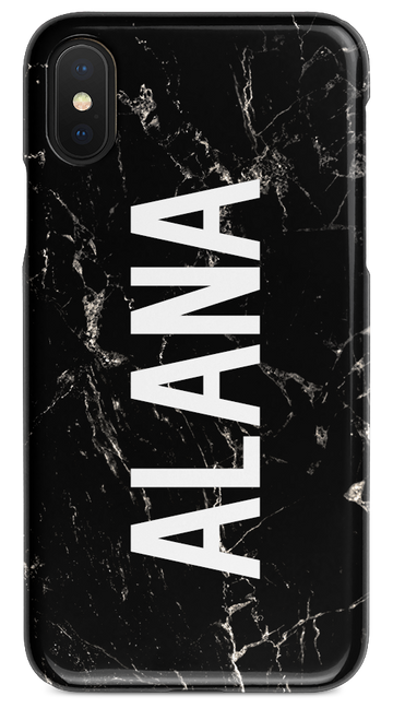 Black Marble – Vertical Bold Name