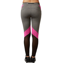 Women Yoga Pants Net Yarn Splicing Yoga Capris for Running Sport Quick-drying Fitness Tights Leggings