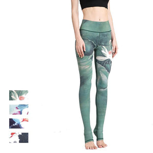 Women Printed Dry Fit Yoga Pants