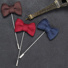 Men's Bow knot Brooches Lapel Pin