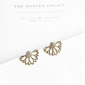 Crystal Flower Stud Earrings For Women