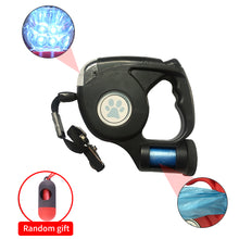 3 in 1 Retractable Dog Leash with LED Flashlight and Bag Dispenser