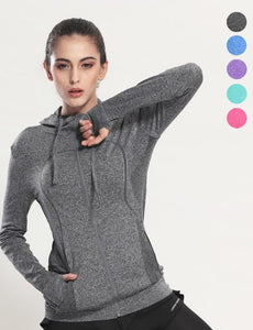 2018 Women's Yoga Shirts Long Sleeve Quick Dry Breathable Tracksuit Running Jacket