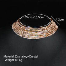 Multiple layers Rhinestone Crystal Choker Necklace for Women New Bijoux Maxi Statement Necklaces Collier Fashion Jewelry