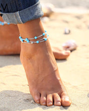 Multiple Vintage Anklets For Women Bohemian Ankle Bracelet Cheville Barefoot Sandals Pulseras Tobilleras Foot Jewelry