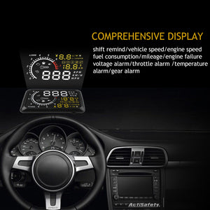 Car Port Head Up Display Windows Screen Speed Projector