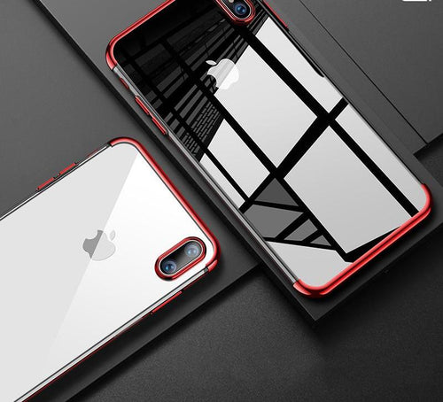 Luxury soft TPU case for iPhone X - Ultra Thin Transparent Plating