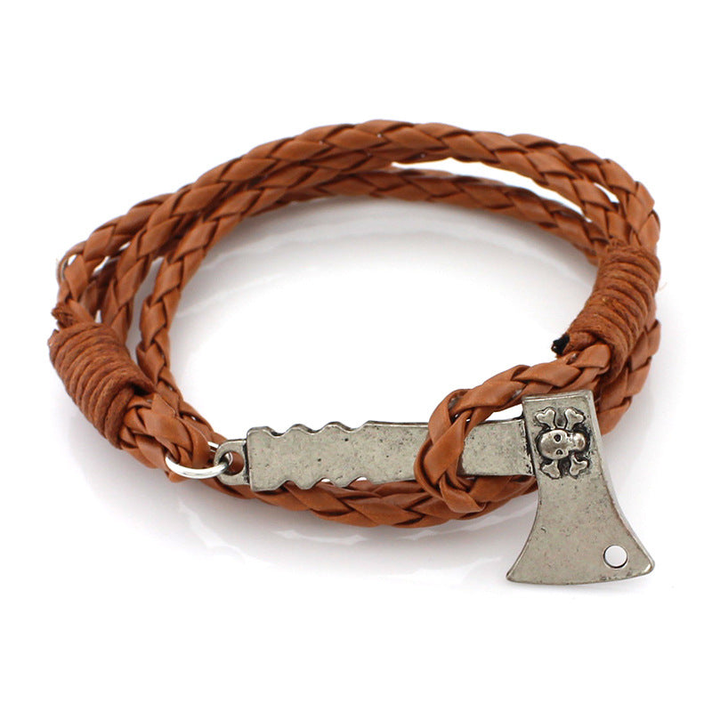 Ax Leather Braided Bracelet Different Colours