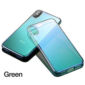 iPhone X Case - Luxury Aurora Gradient Color - Transparent