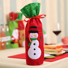 Free Shipping Christmas Decorations Santa Claus Wine Bottle Bags Snowman Gifts