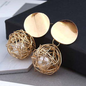 2018 ball Geometric Earrings For Women Hanging Dangle
