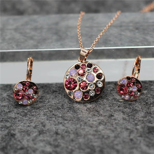 2019 Necklace and Earings Round African costume Crystal Jewelry