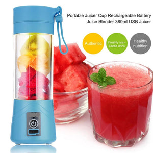 380ml Mini Portable USB Juicer Cup Rechargeable Blender