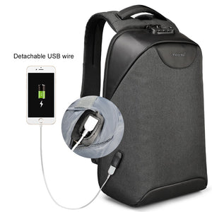 Backpack, No Key Anti Theft TSA Lock USB Charging