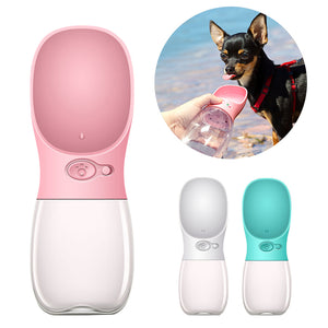 Portable Pet Water Bottle with Drinking Bowl