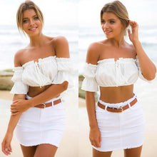 Ladies Off Shoulder Crop Tops