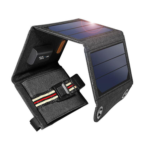 Solar Panel USB Output Portable Foldable Power Bank for Smartphone