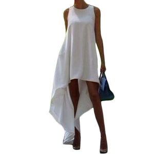 Women Summer Bohemian White Dress
