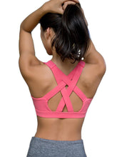 Yoga Shirt Running Sports Bra Gym Top Vest Shockproof High Support Workout