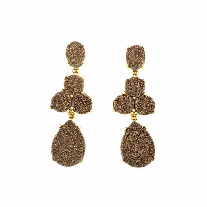 Soiree Earrings Chocolate Druse