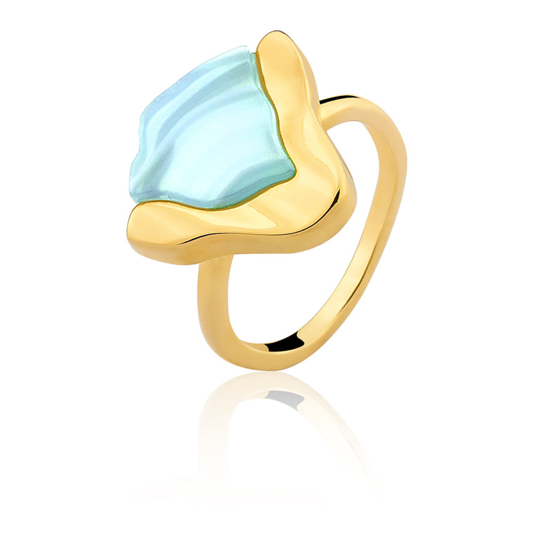 Terre Blue Agate Ring