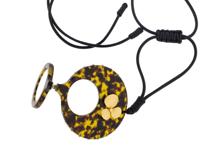 Tortoiseshell Flower Necklace Readers
