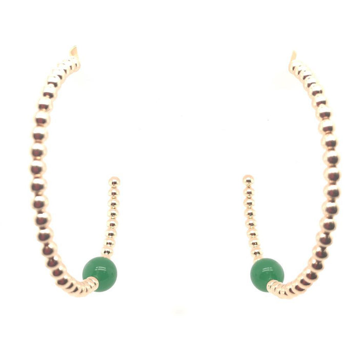 Gota Green Agate Earrings