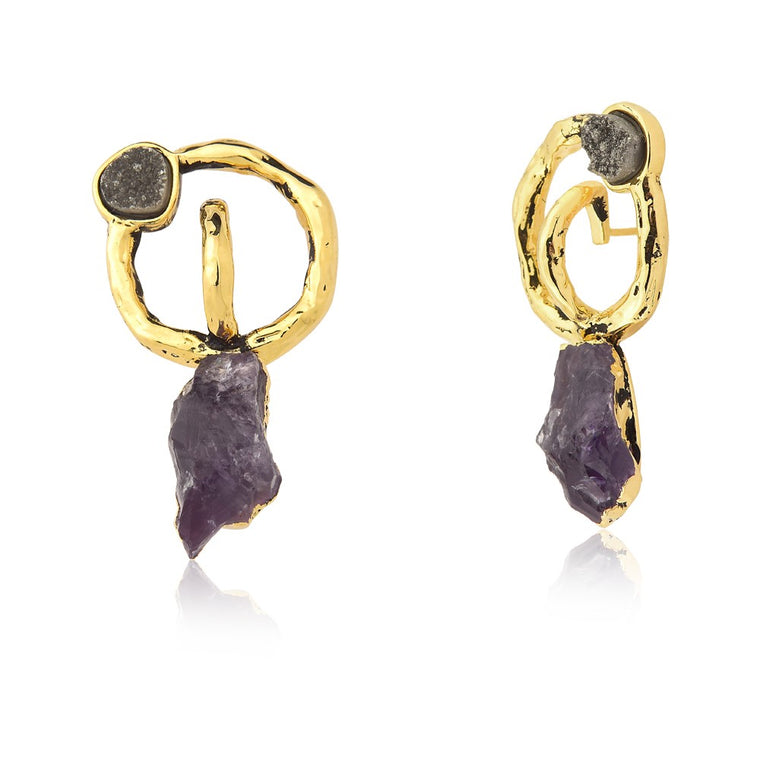 Brio Amethyst Earrings
