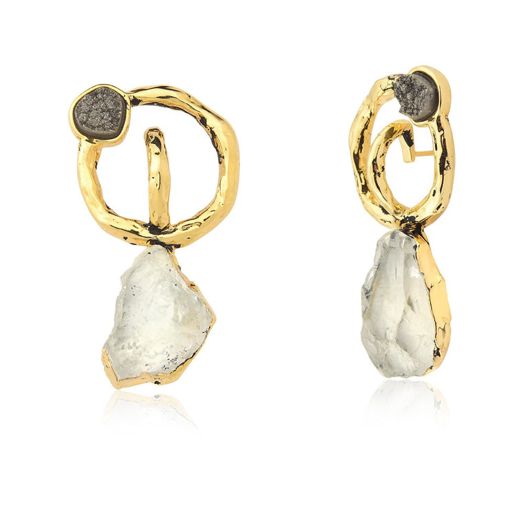 Brio Quartz Earrings