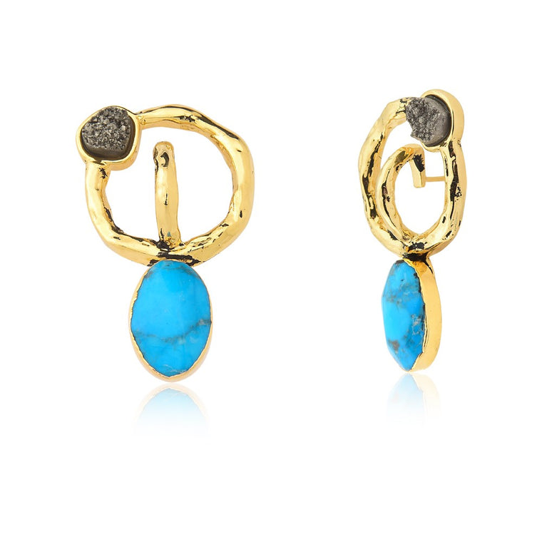 Brio Turquoise Earrings