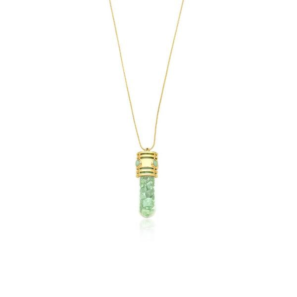 Energy Necklace Green Quartz