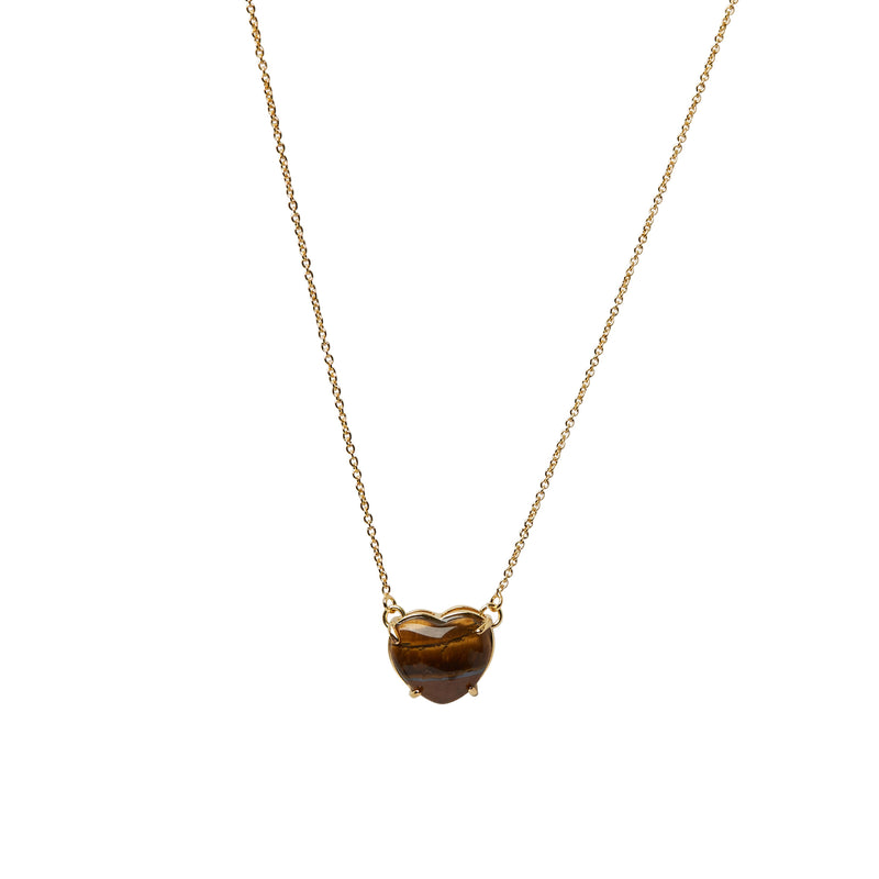 Piccolo Cuore Tiger Eye Necklace