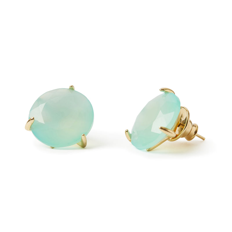 Stelle Earrings Blue Agate
