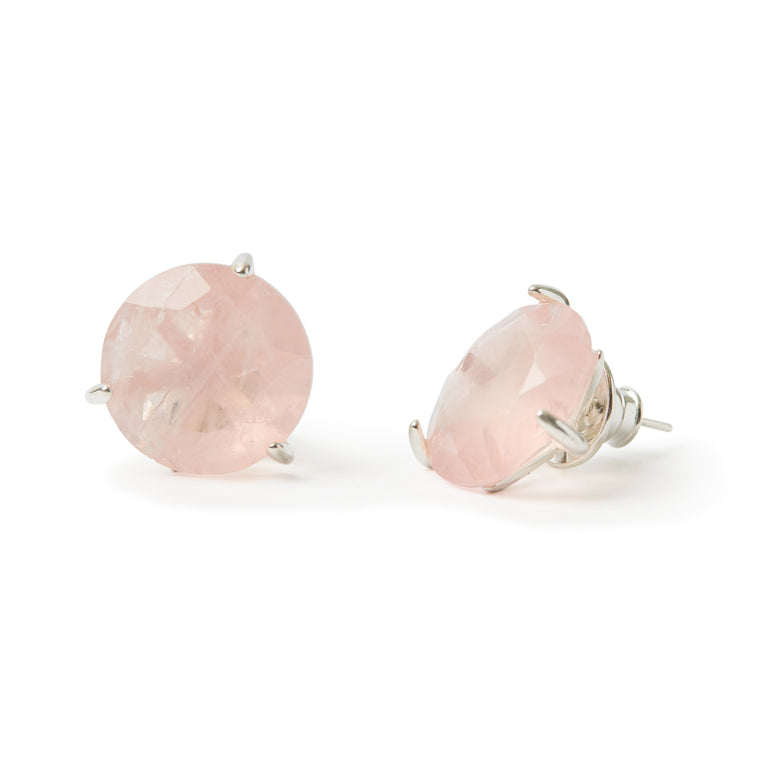 Stelle Earrings Pink Quartz