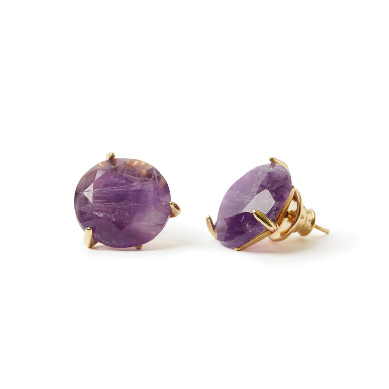 Stelle Earrings Amethyst