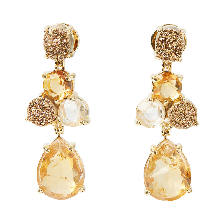 Soiree Earrings Golden Colors