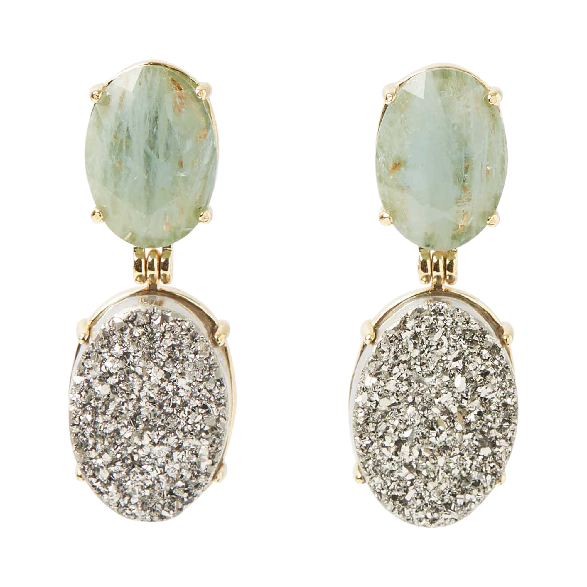 Gioia Earrings Shinny Aqua