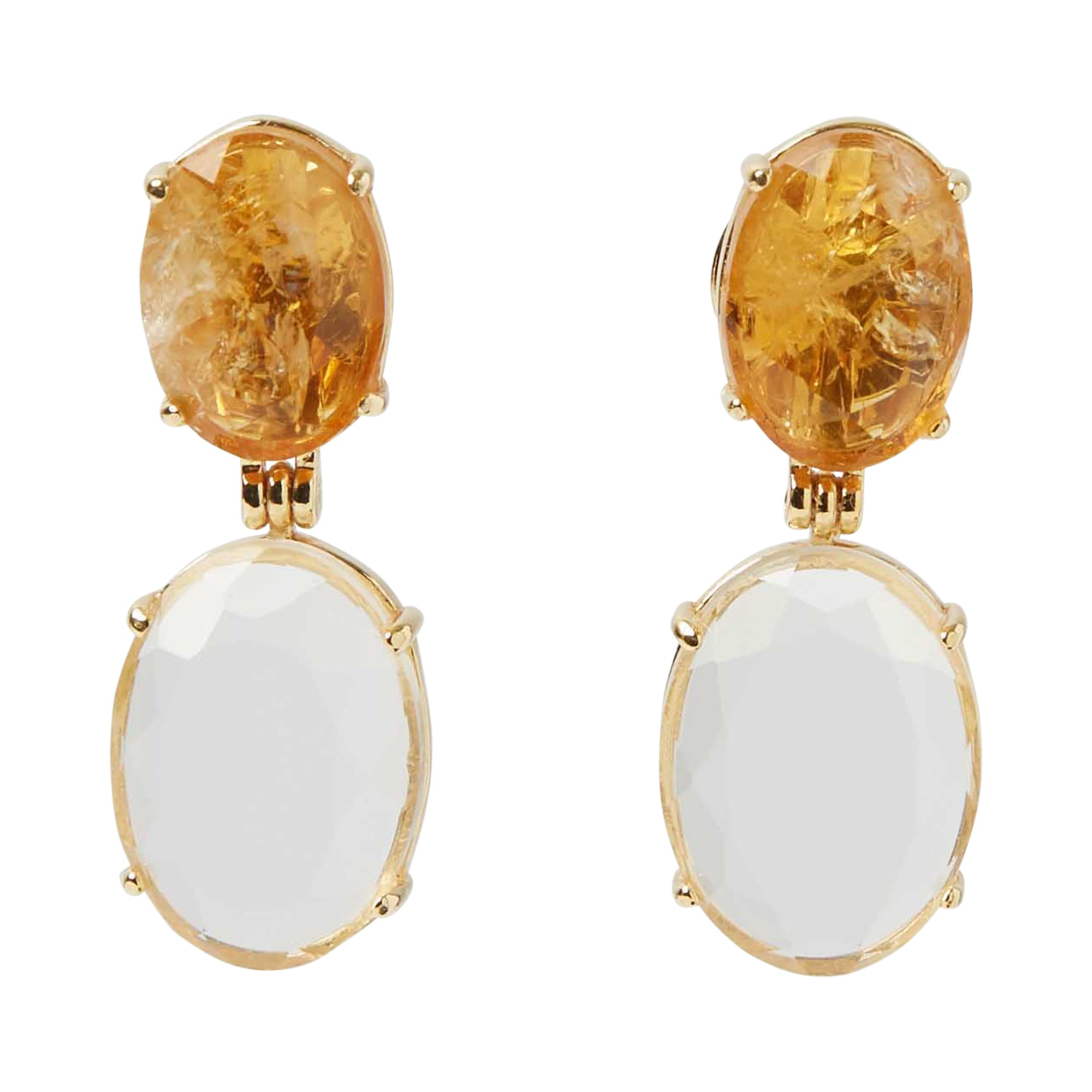 Gioia Earrings Sunny White