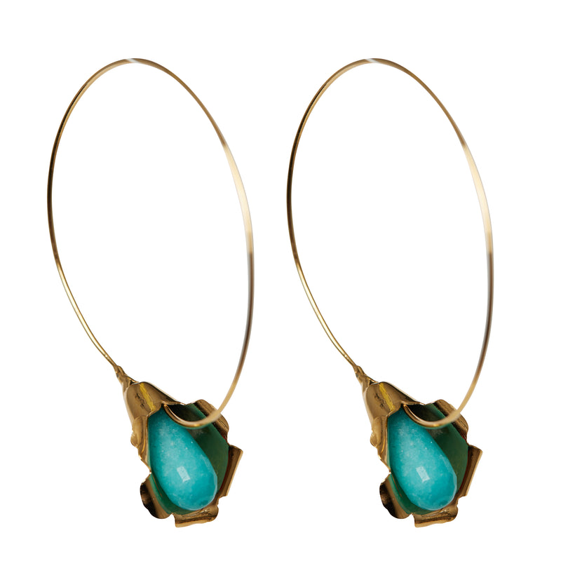 Cocoon Blue Earrings