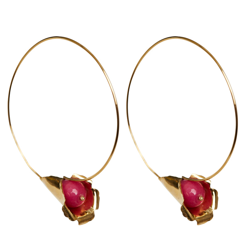 Cocoon Fuchsia Earrings