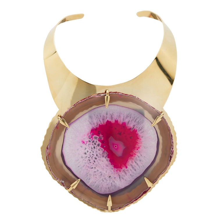 Fuchsia Eye Agate Necklace