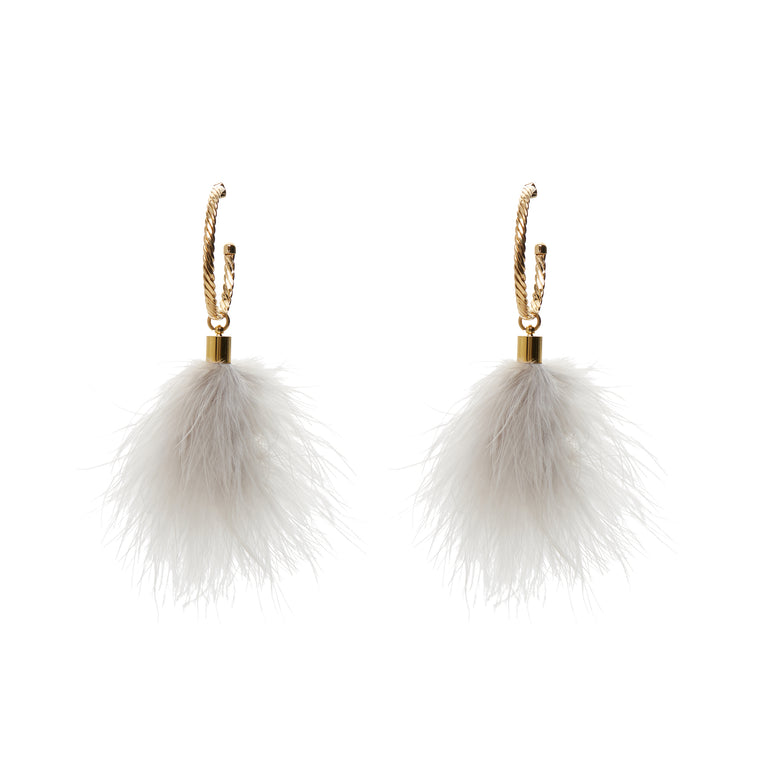 Puff Light Toupee Earrings