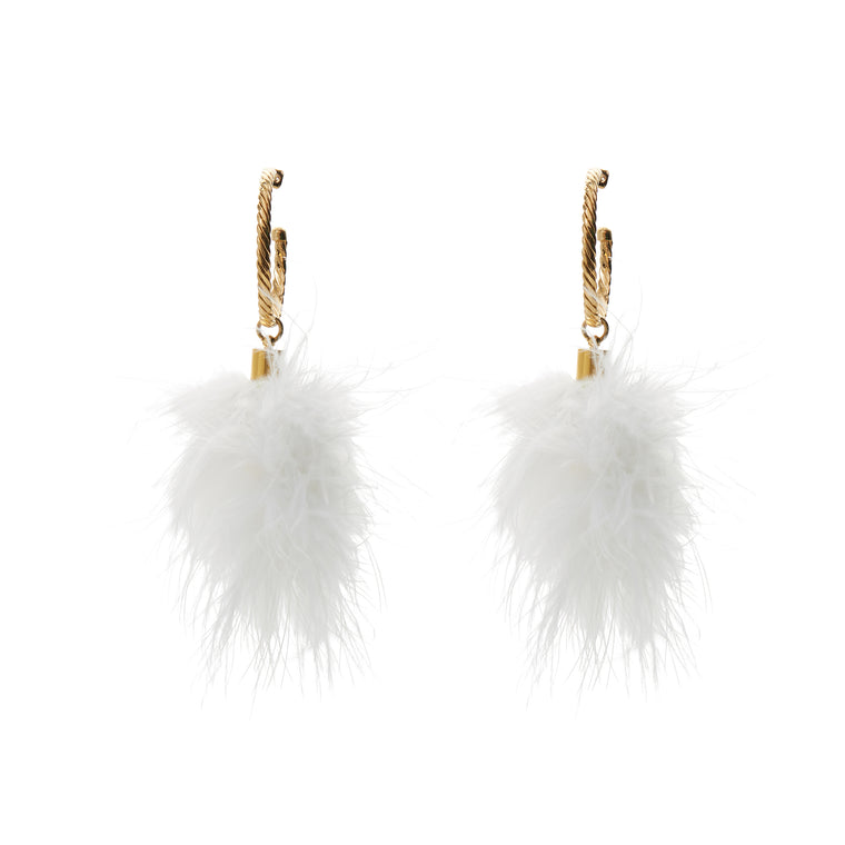 Puff Snow White Earrings