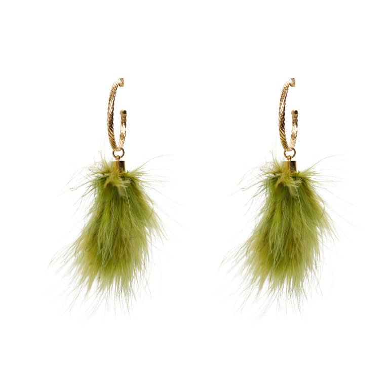 Puff Green Earrings